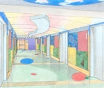 M D M D Anderson Children's Wing. Interior Sketch
