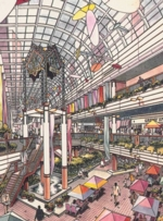 Park Shops. Interior Perspective View